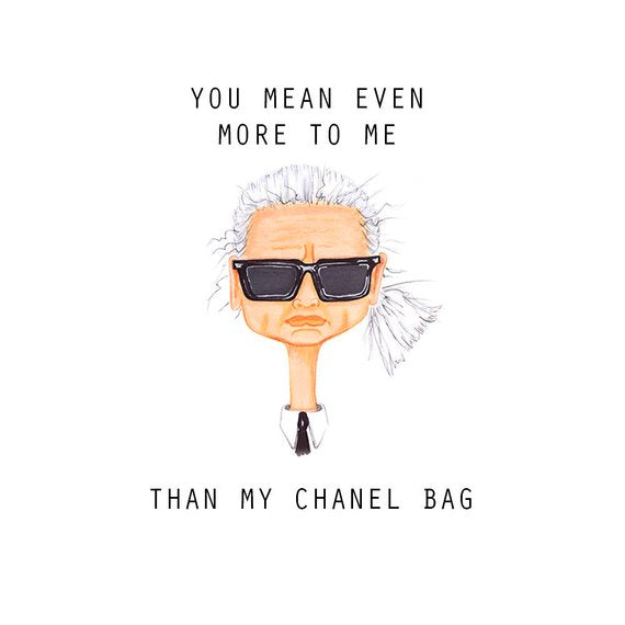 Karl Greeting Card