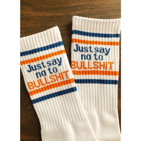 Just Say No To Bullshit Socks Clothing