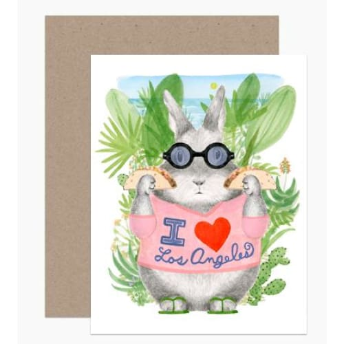 La Bunny Tacos Greeting Card Greeting Cards