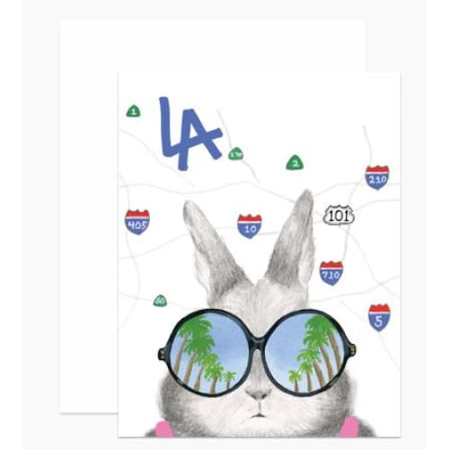 La Freeways Bunny Greeting Card Greeting Cards