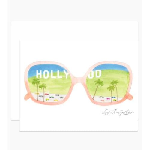 LA Glasses Greeting Card Greeting Cards