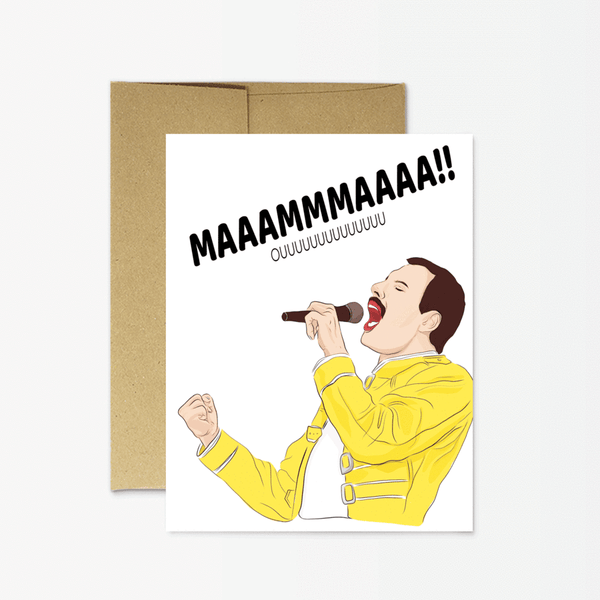 Mama Bohemian Rhapsody Greeting Card