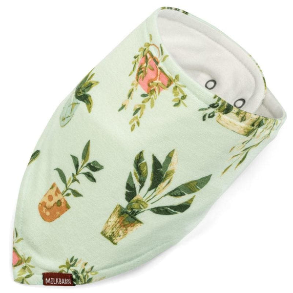 Organic Kerchief Bib - Potted Plants kids clothing