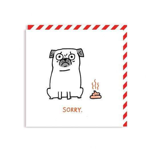 Pug Poop Square Greeting Card