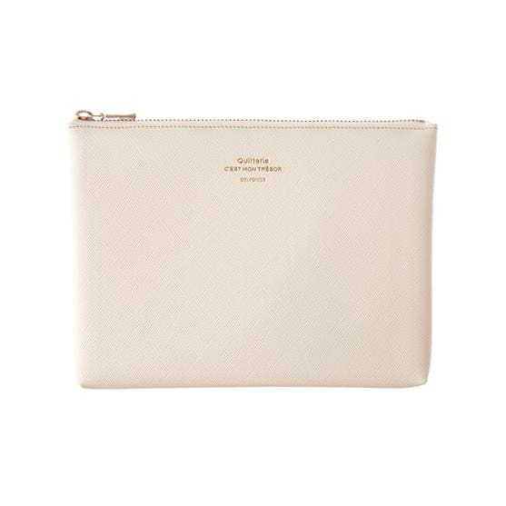 Quitterie Pouch Medium Case- Cream