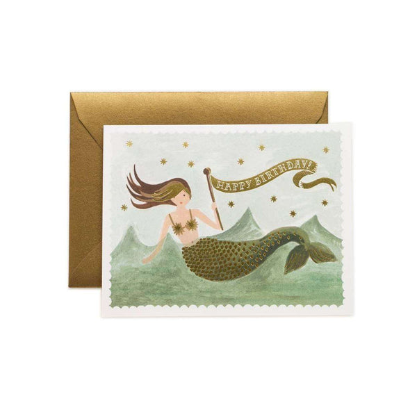 Boxed Set Of Vintage Mermaid Thank You Cards