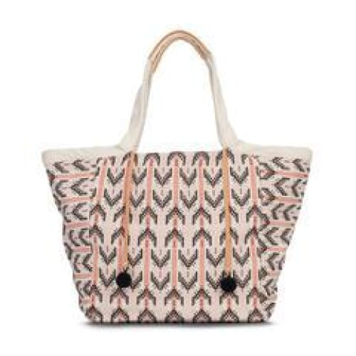Rosa Tote -Blush Arrow Brocade Bag