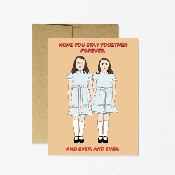 Shining Twins Forever Greeting Card