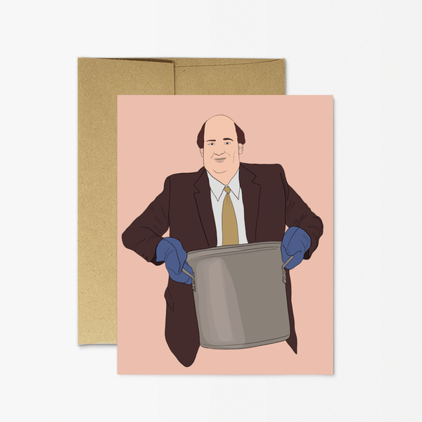 The Office Kevin Chili Greeting Card Greeting Card