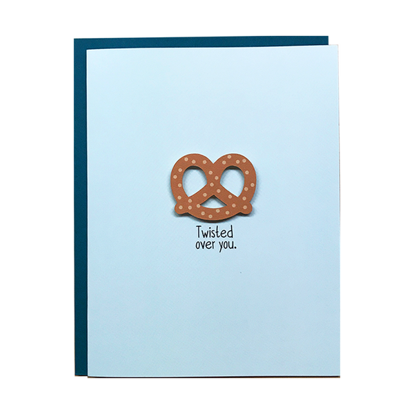 Twisted Over You Greeting Card
