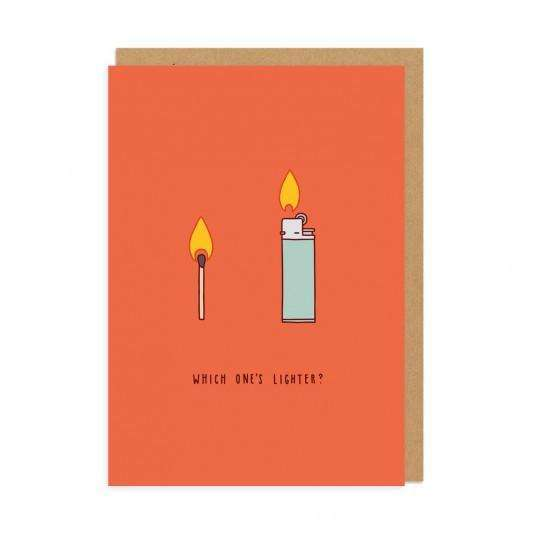 Which Is Lighter Greeting Card