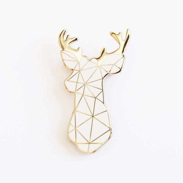 White Stag Enamel Pin