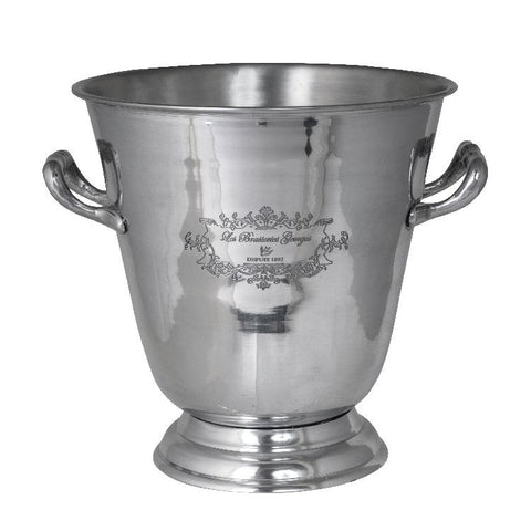 Ice Bucket/Wine Cooler Paris Aluminium Etched
