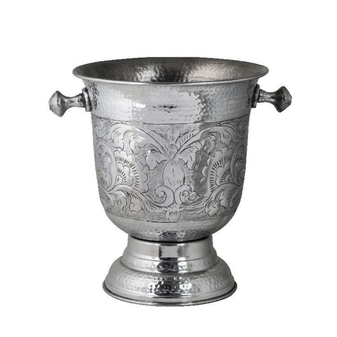 Ice Bucket/Wine Cooler Alum. Urn Emb. H35cm