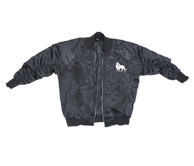 The Lion Bomber (Black Satin)