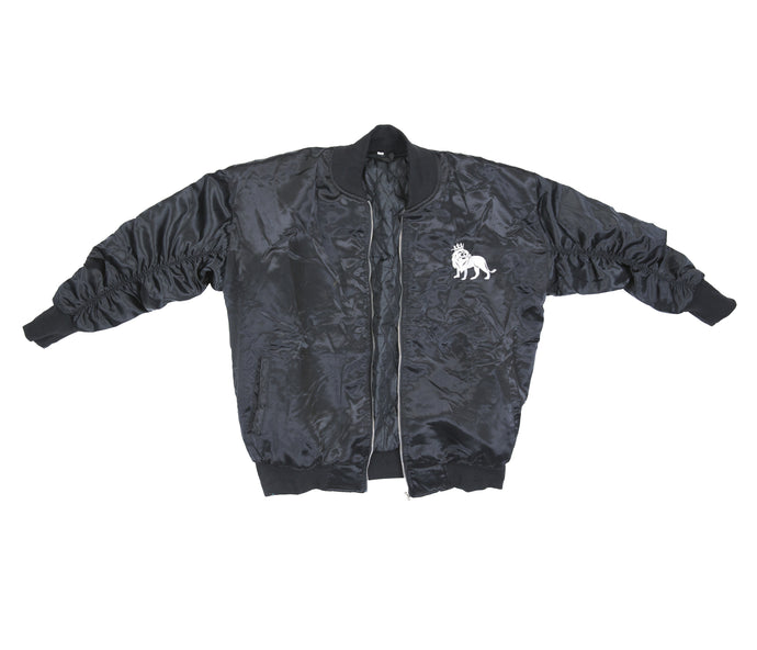 The Lion Bomber (Black Satin) - Haute Filth
