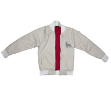 The Lion Bomber (Cream Cotton Lining)