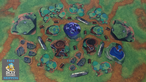 2D Neoprene Terrain - Earth and Arcane Pack (Elemental Village)
