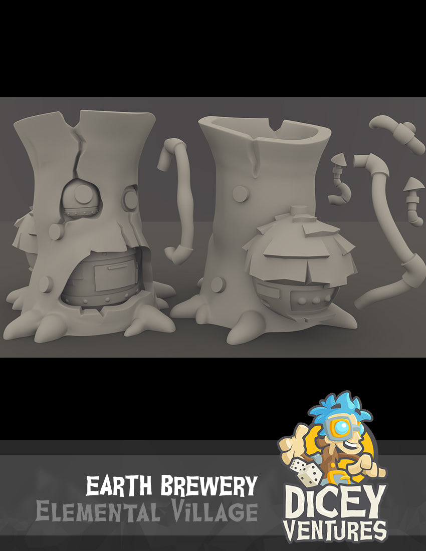 Earth Brewery - 3D Printable Model