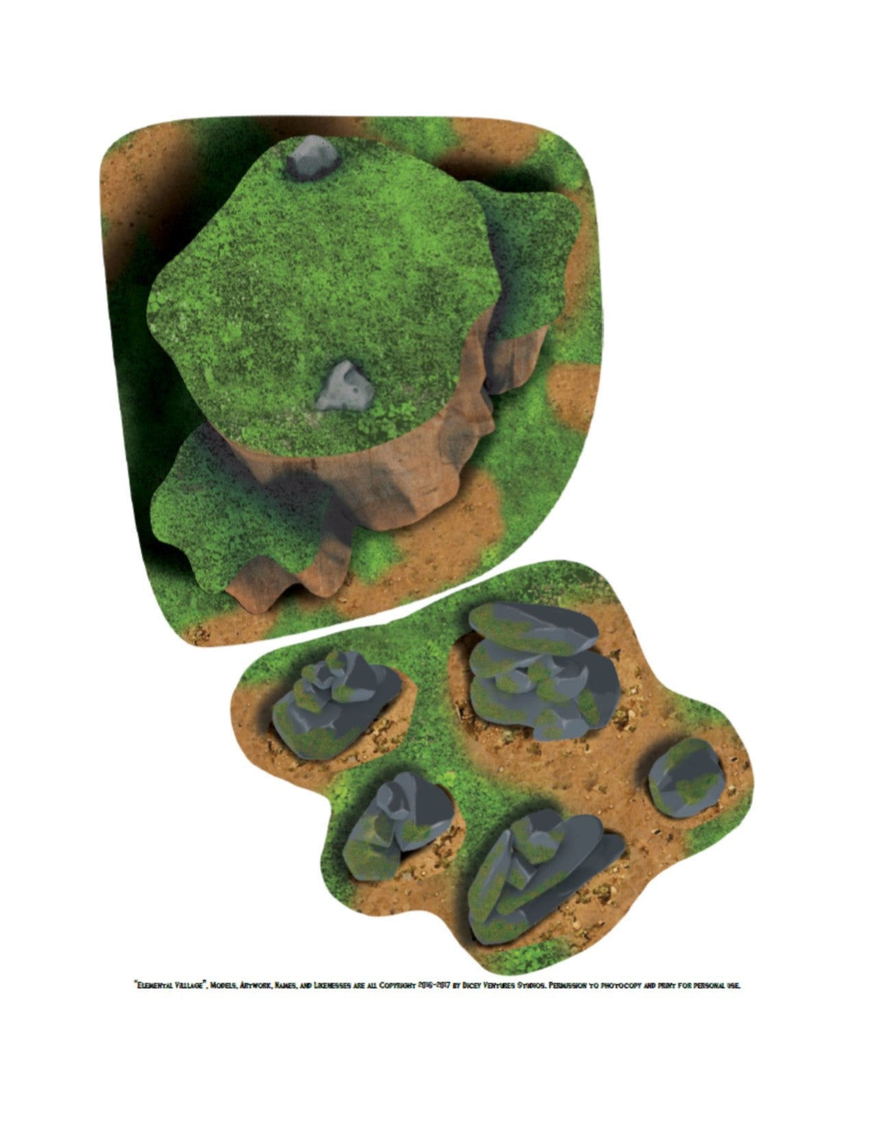Elemental Village: Print and Play 2D Terrain - BUNDLE