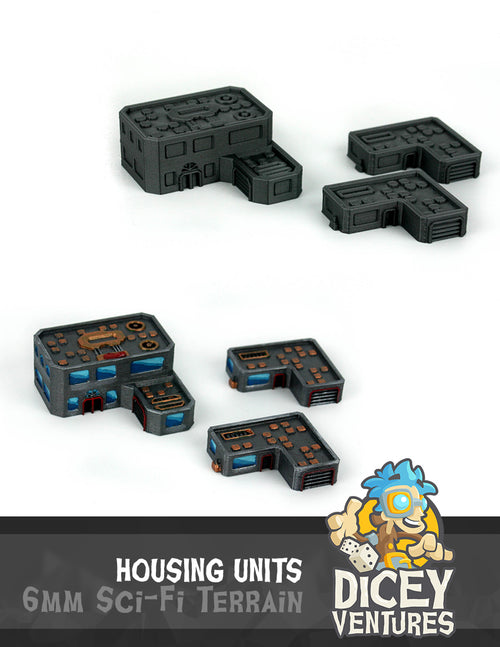6mm Sci-Fi Terrain: Housing Units