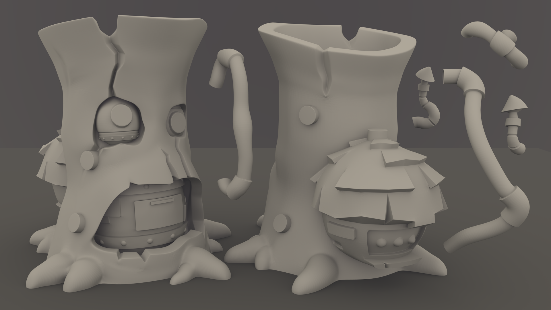 Elemental Village FULL SET - 3D Printable Models