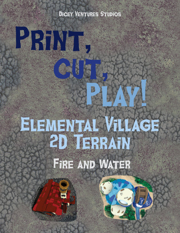 SHRINK RAY DISASTER - Small Scale 2D Elemental Village Terrain