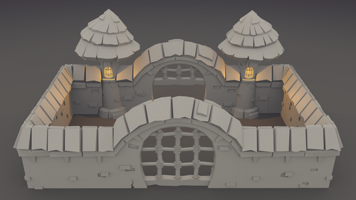 Elemental Village: Fortifications - 3D Printable Models