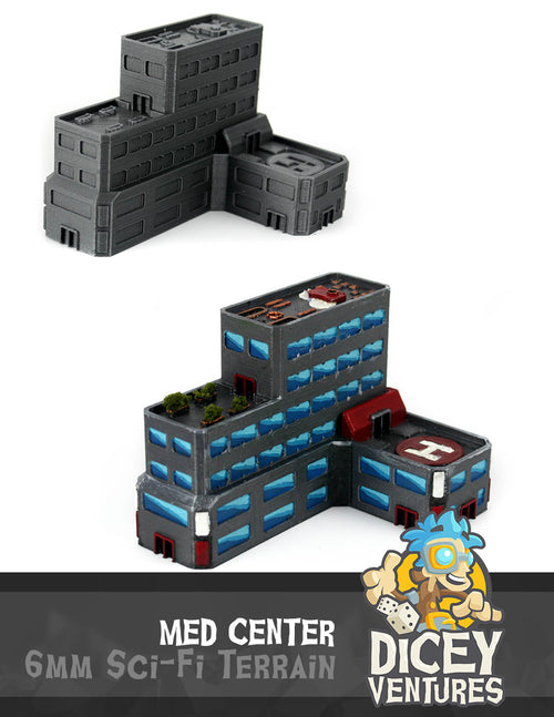 6mm Sci-Fi Terrain: Med Center