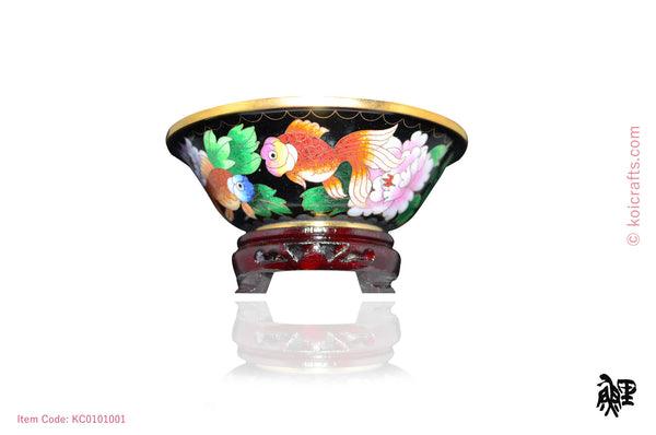 Small Cloisonne goldfish bowl