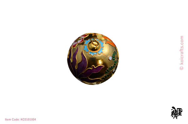 Round Goldfish Cloisonne ornament