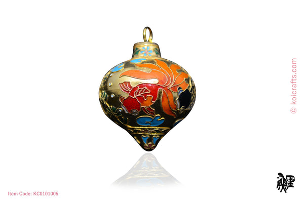 Big dew drop goldfish cloisonne ornament
