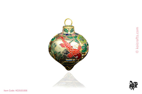 Big dewdrop koi cloisonne ornament