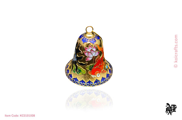 Big goldfish bell cloisonne ornament
