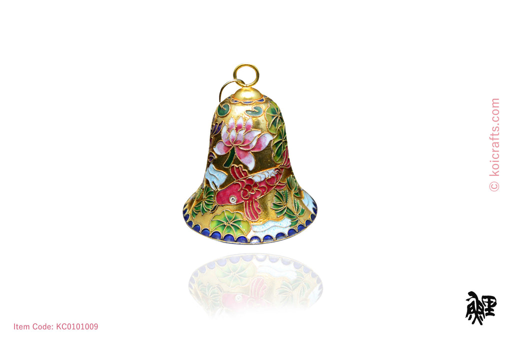 Big Koi bell shaped cloisonne ornament
