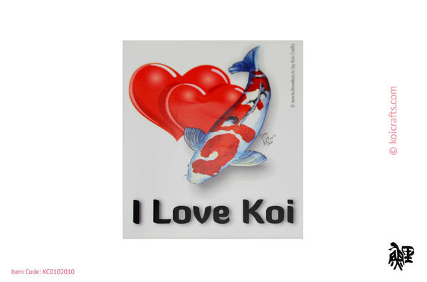 I Love Koi bumper sticker