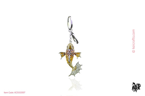 Large koi rhinestone key chain.
