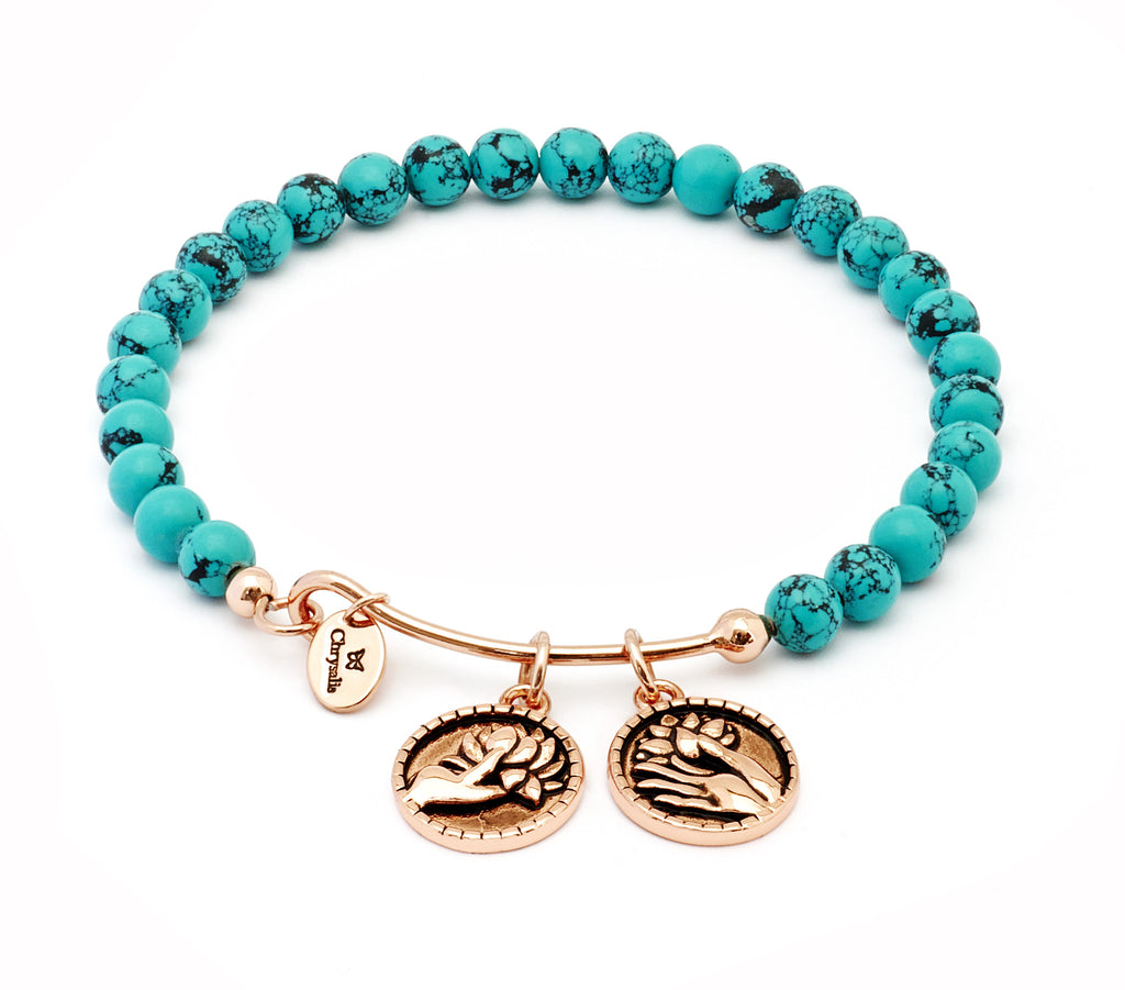 Creativity Green Turquoise Expandable Bangle - Stevens Jewellers Letterkenny Donegal