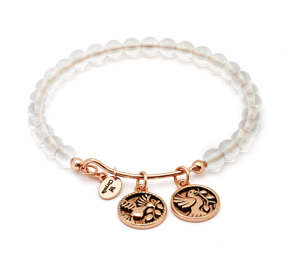 Truth White Quartz Expandable Bangle