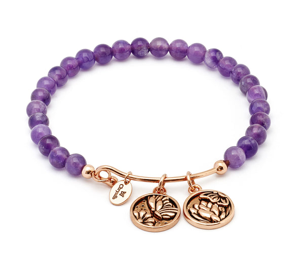 Tranformation Amethyst Expandable Bangle - Stevens Jewellers Letterkenny Donegal