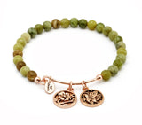 Nature Moss Jade Expandable Bangle - Stevens Jewellers Letterkenny Donegal
