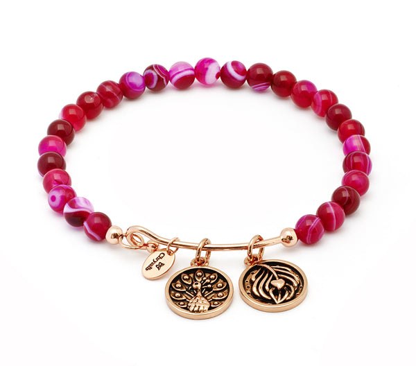 Inner Beauty Rose Agate Expandable Bangle - Stevens Jewellers Letterkenny Donegal
