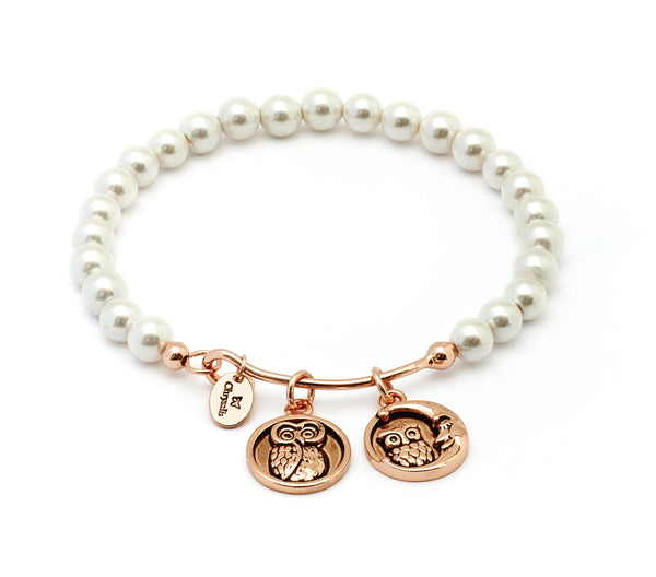 Wisdom Shell Pearl Expandable Bangle