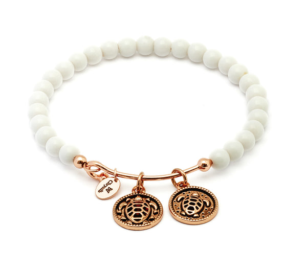 Serenity White Porcelain Expandable Bangle - Stevens Jewellers Letterkenny Donegal