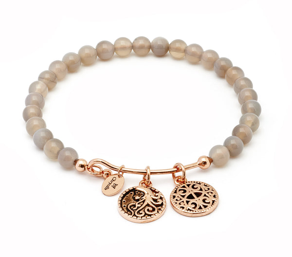 Femininity Grey Agate Expandable Bangle - Stevens Jewellers Letterkenny Donegal