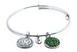 Emerald Crystal Expandable Bangle - Stevens Jewellers Letterkenny Donegal
