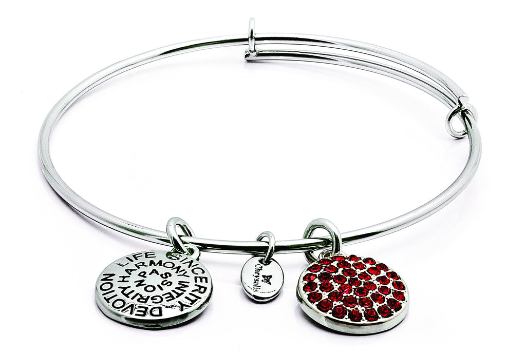 Ruby Crystal Expandable Bangle - Stevens Jewellers Letterkenny Donegal
