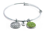 Peridot Crystal Expandable Bangle - Stevens Jewellers Letterkenny Donegal