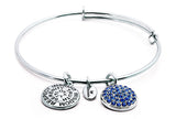 Sapphire Crystal Expandable Bangle - Stevens Jewellers Letterkenny Donegal