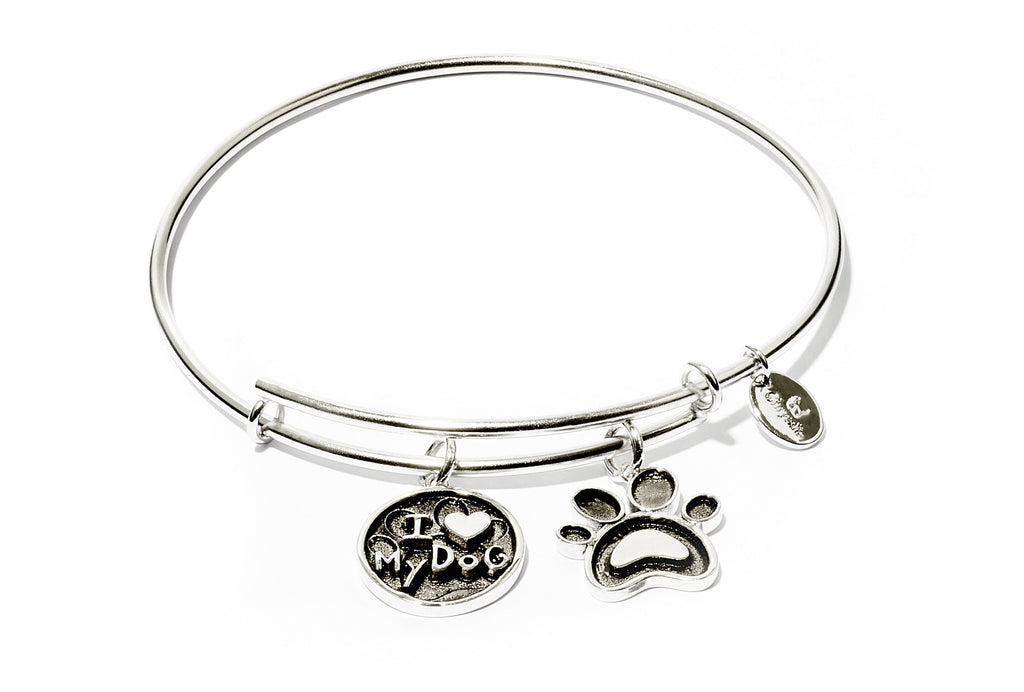 I Love My Dog Expandable Bangle - Stevens Jewellers Letterkenny Donegal